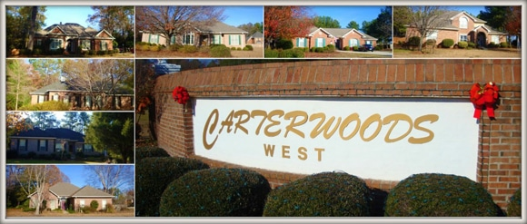 CarterWoods West Subdivision in Warner Robins Georgia 31088