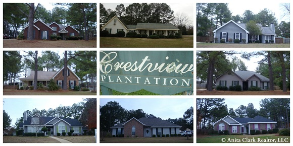 Crestview Plantation Subdivision in Warner Robins GA 31088
