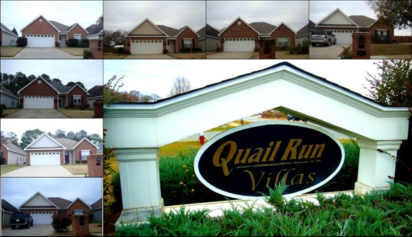 Quail Run Villas Subdivision in Warner Robins Georgia 31088 