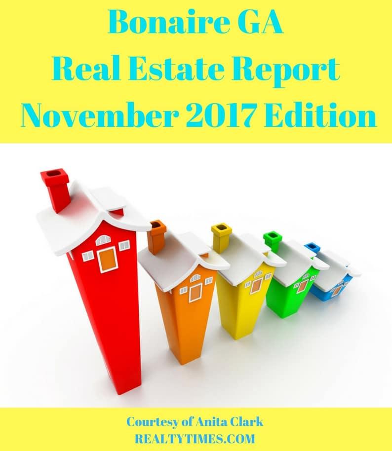 Bonaire GA Real Estate Report November 2017 Edition