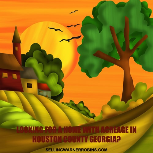 Homes with Acreage in Houston County GA in February 2016
