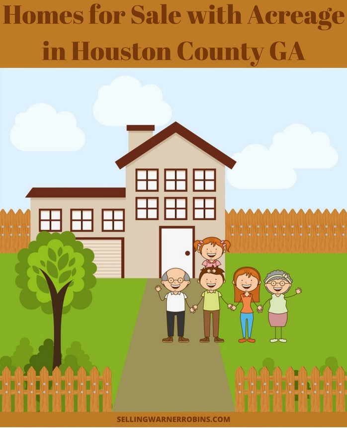 Homes for Sale with Acreage in Houston County GA